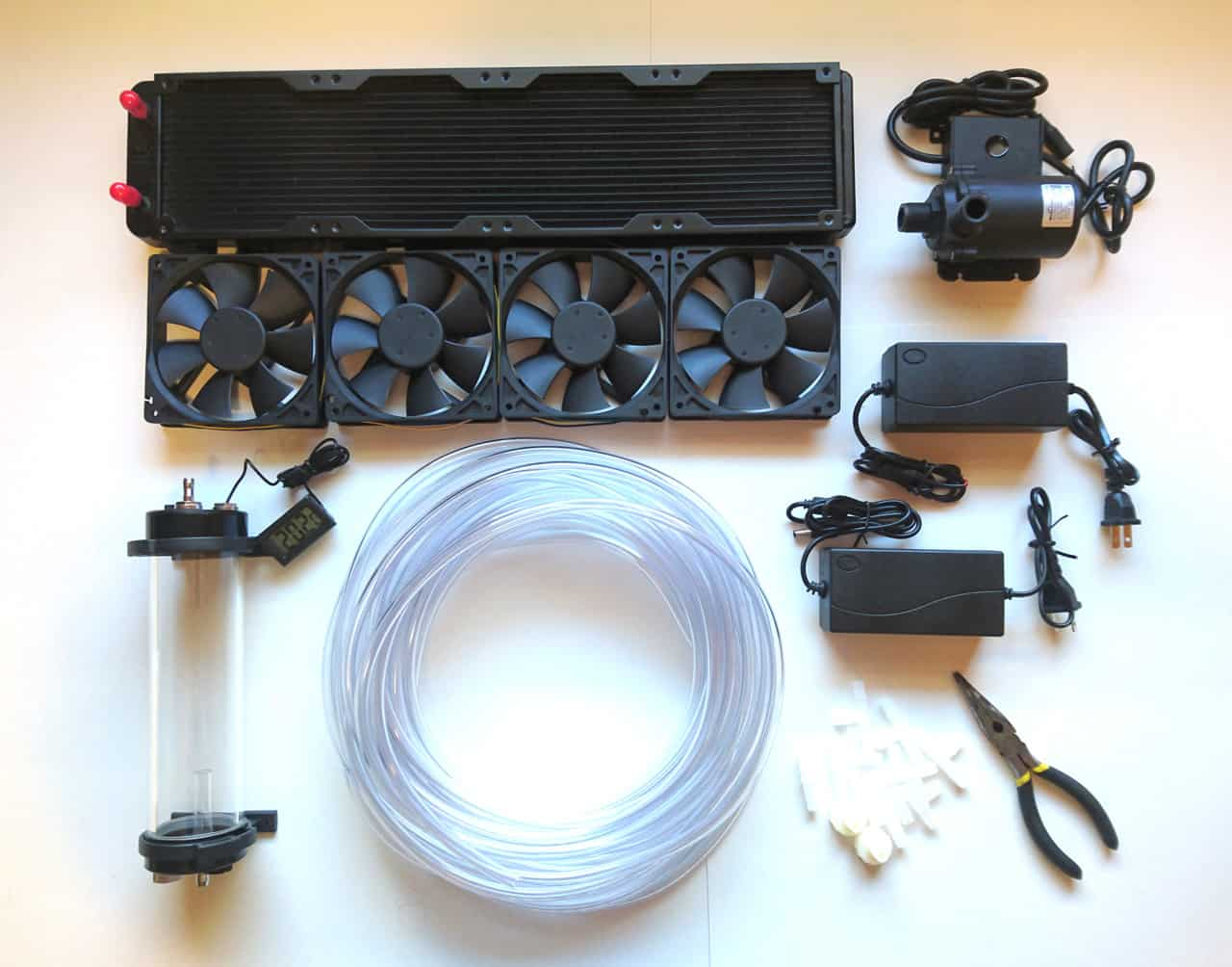MASTER WATER COOLING KIT – FOR WATER COOLED LED GROW LIGHTS (12V System)